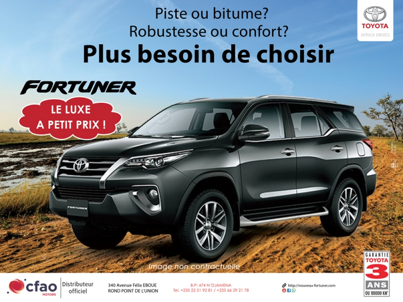 Toyota Fortuner: le luxe vous tend les bras!