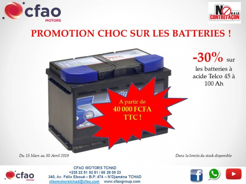 PROMOTION BATTERIES -30%
